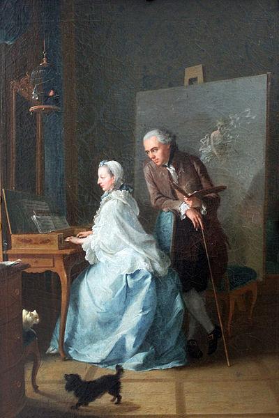 File:1756 Tischbein Selbstbildnis mit seiner ersten Frau am Klavichord anagoria.JPG