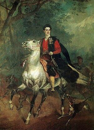 Anatoly Nikolaievich Demidov, 1st Prince of San Donato - Anatole Demidov by Karl Brulloff, 1831, Florence, Palazzo Pitti