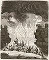 1845, Historia de Cabrera y de la guerra civil en Aragón, Valencia y Murcia, Asedio dado en la brecha de Morella (cropped).jpg
