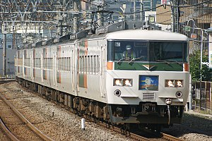 185 series - A 185 series train on a Shonan Liner rapid service in June 2008
