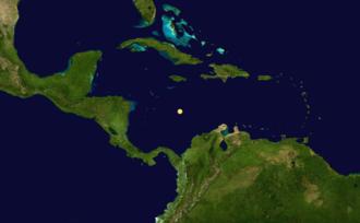 1867 Atlantic hurricane season - Image: 1867 Atlantic hurricane 3 track