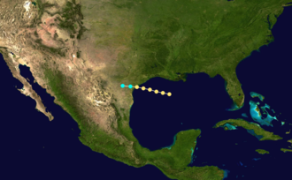 1869 Atlantic hurricane season - Image: 1869 Atlantic hurricane 2 track