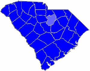 South Carolina gubernatorial election, 1880 - Image: 1880SCGov Results