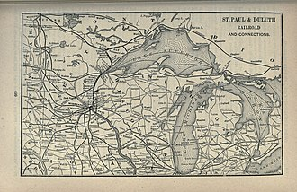 St. Paul and Duluth Railroad - An 1891 route map