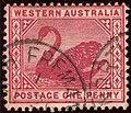 1898ca 1d carmine Western Australia North Fremantle Yv53 SG112.jpg