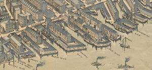 Rowes Wharf - Detail of 1899 map of Boston, showing Rowes Wharf