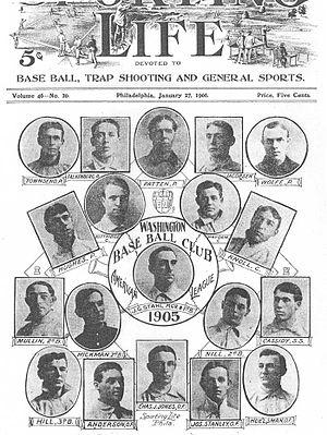 1905 Washington Senators season - Image: 1905 Washington Senators