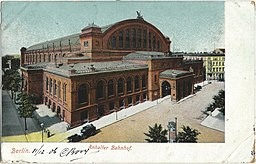 Anhalter Banhof, 1906, Vintage postcards private collection [Public domain], via Wikimedia Commons