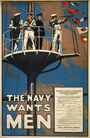 Royal Naval Canadian Volunteer Reserve - Recruiting poster from 1915
