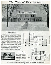 Kit houses in north america wikipedia the free encyclopedia for Antique colonial house plans