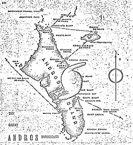 1929 Bahamas hurricane Andros Island map.JPG