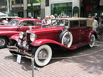 Cord (automobile) - A 1929 L-29 Phaeton on display at the 2005 United States Grand Prix