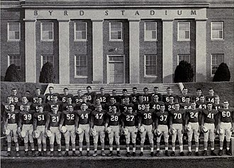 1951 Maryland Terrapins football team - Team photograph in front of Byrd Stadium