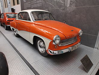 Economy of the German Democratic Republic - Image: 1960 VEB IFA Wartburg Type 311 300 Coupé pic 1