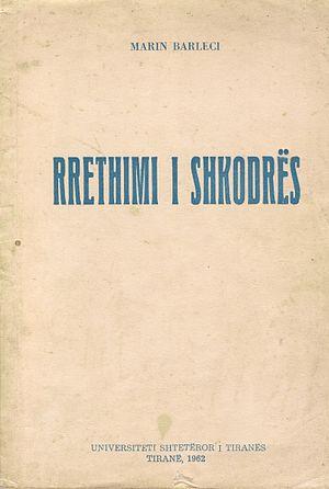 The Siege of Shkodra (book) - Image: 1962 Cover of RRETHIMI I SHKODRES