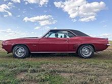 1969 Chevrolet Camaro Coupé Seite Granatrot