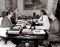 1973. Marzo, 26. Rafael Caldera, Jesús Soto y Alfredo Boulton en el despacho presidencial del Palacio de Miraflores.jpg
