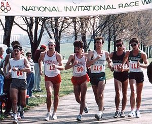 Walking - Racewalkers at the World Cup Trials in 1987