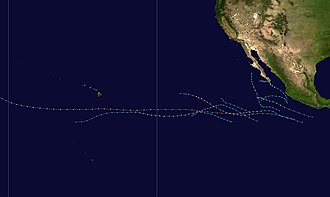 Pacific hurricane - Image: 1999 Pacific hurricane season summary