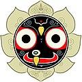 1 icon of Jagannath Jaganath Jagannatha, abstract Krishna of Hinduism.jpg