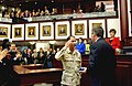 1st Sergeant Baker (Representative Carey Baker) presents to his Commander in Chief Governor Jeb Bush a United States Flag from Alpha Company of the Florida National Guard.jpg