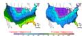 2007-02-14 Color Max-min Temperature Map NOAA.png