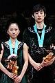 2009 GPF Juniors Pairs - Yue ZHANG - Lei WANG - Bronze Medal - 2284a.jpg