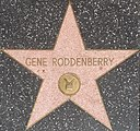 Gene Roddenberry's star on the Hollywood Walk of Fame