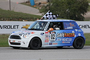 Sports Car Club of America - B Spec National Championship Runoffs Winner Charlie James in his Mini