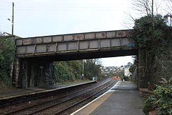 2013 at Saltash station - Culver Road bridge.jpg