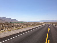 2014-07-18 11 47 45 View south towards Hiko, Nevada from Nevada State Route 318 about 6.9 miles north of U.S. Route 93.JPG