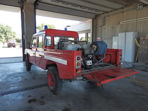 Land Rover - Land Rover conversion to fight forest fires, Cascina, Italy (August 2016)
