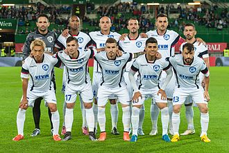 FK Kukësi - Kukësi in the Europa League in 2016.