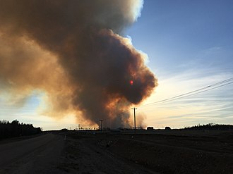 2016 Fort McMurray Wildfire - The wildfire burning near Fort McMurray on May 1, 2016