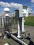 2017-06-06 10 44 20 HO-1088 thermometer and DTS-1 dew point sensor on the Automated Surface Observing System (ASOS) at Ronald Reagan Washington National Airport in Arlington County, Virginia.jpg