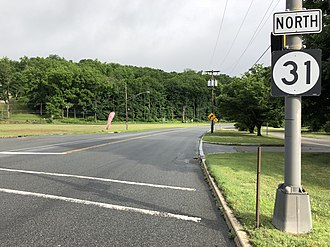 Oxford Township, New Jersey - View north along Route 31 in Oxford Township