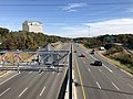 2018-10-31 13 46 44 View east along U.S. Route 50 (Arlington Boulevard) from the overpass for Interstate 495 (Capital Beltway) along the border of Annandale and West Falls Church in Fairfax County, Virginia.jpg