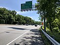 2019-05-27 15 44 17 View west along the outer loop of the Capital Beltway (Interstate 495) at Exit 33 (Maryland State Route 185-Connecticut Avenue, Kensington, Chevy Chase) in Chevy Chase, Montgomery County, Maryland.jpg