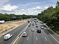 2019-07-11 13 44 29 View east along the eastbound lanes of Interstate 495 (Capital Beltway) from the overpass for Maryland State Route 355 (Rockville Pike) in Bethesda, Montgomery County, Maryland.jpg