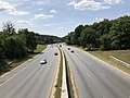 2019-09-10 12 16 51 View south along Maryland State Route 295 (Baltimore-Washington Parkway) from the overpass for Maryland State Route 450 (Annapolis Road) in Landover, Prince George's County, Maryland.jpg