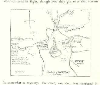Battle of Hexham - Plan of the battle of Hexham
