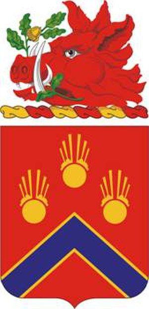 214th Field Artillery Regiment - Coat of arms