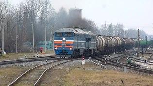 File:2TE116-1040 departure from Krustpils to Daugavpils.webm