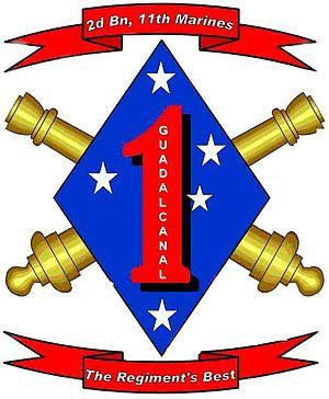 English: logo for 2nd Battalion 11th Marines