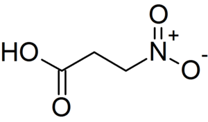 Beta-Nitropropionic acid - Image: 3 Nitropropanoic acid