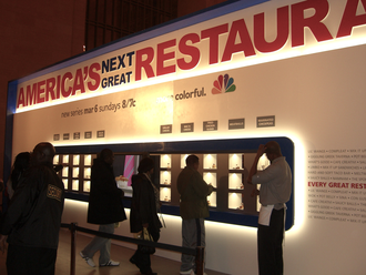 America's Next Great Restaurant - Commuters in Grand Central Terminal in Manhattan treated to free samples of food inspired by the series, March 4, 2011.