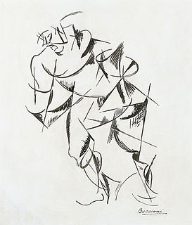 <i>Dynamism of a Human Body: Boxer</i> painting by Umberto Boccioni