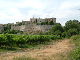 View of Lecques, from the south.