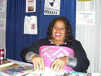 Who Wants to Be a Superhero? - Nell Wilson (Fat Momma) at the 2008 New York Comic Con.