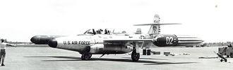 445th Flight Test Squadron - 445th FIS Northrop F-89H Scorpion 54-0402 at Wurtsmith AFB, MI